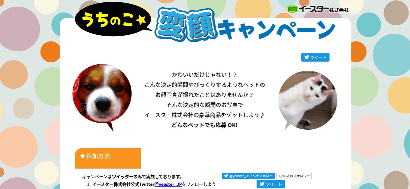 変顔キャンペーン